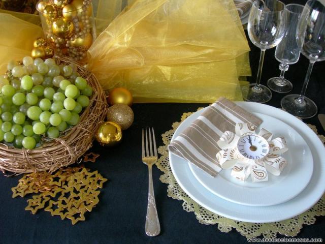 decoracion mesa nochevieja adorno servilleta [800x600]