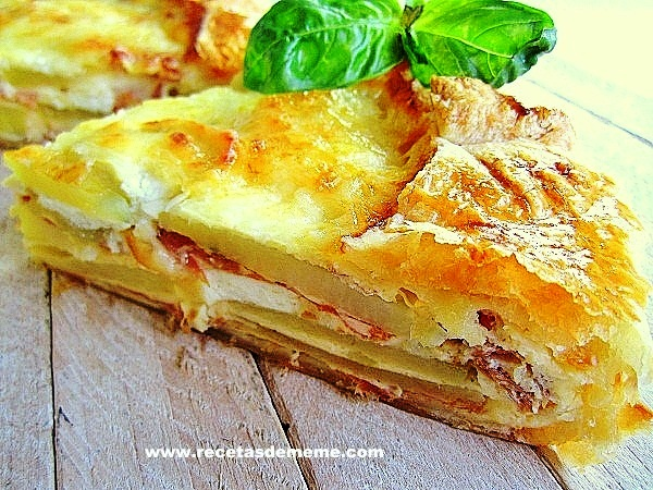 Pastel campesino con patatas y queso recetas de mem for Cocinar en frances