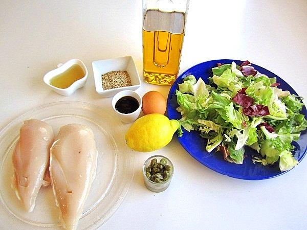 pollo-crujiente-en-ensalada